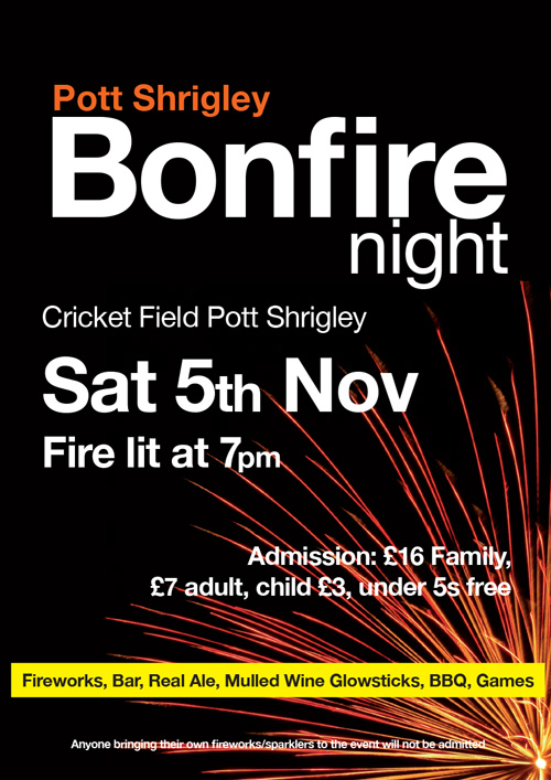 Bonfire Night Pott Shrigley Cricket Club