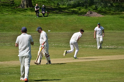 ....... and soon gets a caught and bowled.