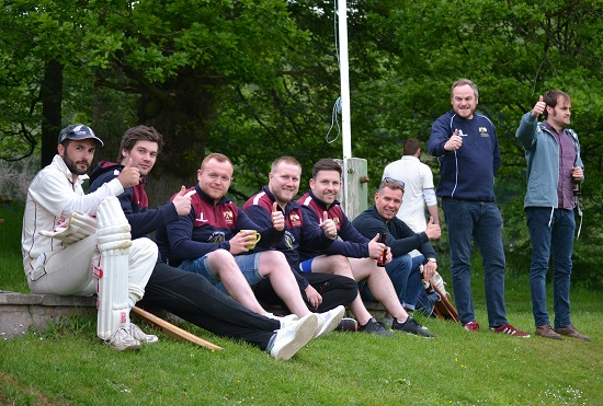 Firsts back from a nine wicket win at High Lane