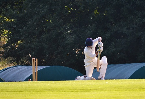 Rich Caslaw gets the first Ashley wicket.