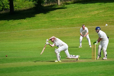 Classic cover drive by Andy Matheson