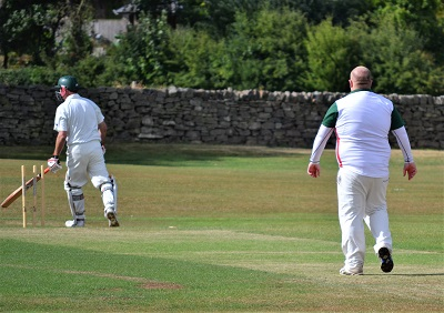 Andy Dawson  soon gets his first wicket.