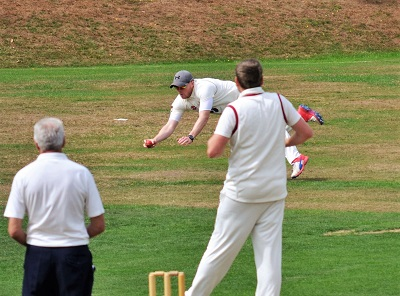 Skipper shows how it's done - Great catch.