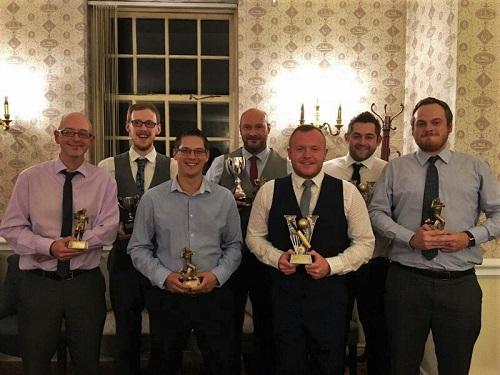 2016 Trophy Winners Jon Wilkie, Jonnie Dixon, Marc Ash, Matt Tarr, Ryan Fitter, Rich Caslaw, Matt Baqueriza-Jackson.